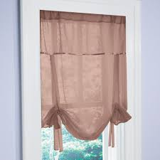 Shade Curtains Decorating Curtain Brylanehomeac2ae Studio Voile Tie Up Shade Sheerins