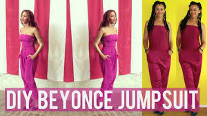 how to diy jumpsuit inspired by beyonce diy clothes youtube