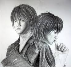 light and l death note by i sketch you on deviantart