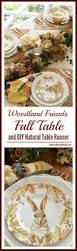 Fall Table Runners by A Fall Table With Woodland Friends And Diy Table Runner U2013 Home Is
