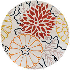 Round Rugs 8 Ft by Chandra Kimono 8 U0027 Modern Red Rug Collectic Home