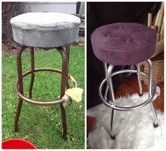 Remove Rust From Metal Furniture by Diy Bar Stool Upcycle For My Workroom Had To Remove A Lot Of Rust