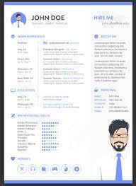 Adobe Illustrator Resume Template 22 Free Minimalist U0026 Simple Resume Templates Xdesigns