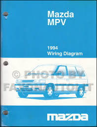 1994 mazda mpv repair shop manual original