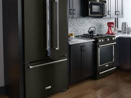 Kitchen Aid Countertop Oven Look At These Beautiful Matte Black Major Appliances Refrigerator