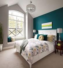 Light Teal Bedroom Teal Accent Wall Design Ideas With Grey To Anchor And Citron