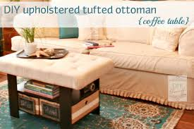 Diy Reupholster Ottoman by Upholstering Tufting A Coffee Table Turned Ottoman Hometalk