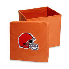 Orange Storage Ottoman Buy Nfl Storage Ottoman From Bed Bath U0026 Beyond
