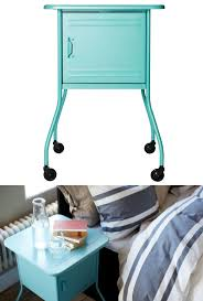 bedroom mini turquoise nightstand with legs and wheels for home