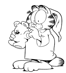202 best garfield coloring pages images on pinterest drawing