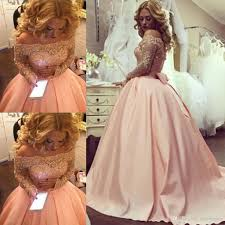 sparkly blush pink long ball gowns prom dresses 2017 beaded