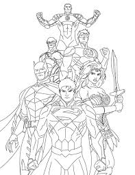 how to draw justice league coloring page netart
