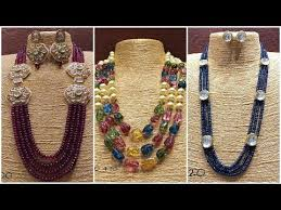 gold beaded necklace india images Indian beads jewellery designs in gold jpg