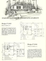 vintage home plans cluster units 2445 antique alter ego vintage house plans cluster units