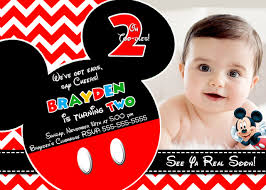 fabulous personalized mickey mouse birthday invitations with