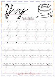 printable cursive handwriting tracing worksheets letter y for yo