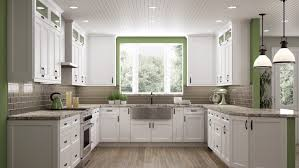 white shaker corner kitchen cabinet bright white shaker