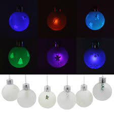 Hanging Christmas Lights by Set Of 6 Battery Operated Led Christmas Hanging Ball Torchstar