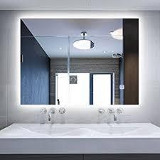 Anti Mist Bathroom Mirror Dimmable Led Backlit Mirror Illuminated Bathroom