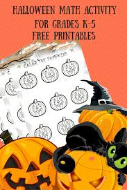 halloween math activity color pumpkins logicroots