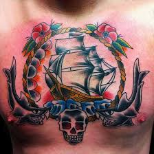 chest old tattoo designs for men full tattoo old