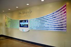 wall display recognition wall displays donor recognition displays