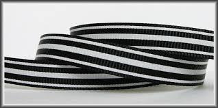 black and white striped ribbon 5 yds black and white striped 3 8 grosgrain ribbon
