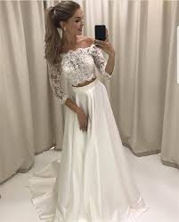 two wedding dresses boho style lace sleeved two wedding dresses bridal