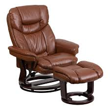 Modern Recliner Chair Flash Furniture Contemporary Beige Leather Recliner And Ottoman
