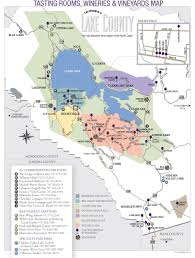 Sonoma Winery Map Lake County Appellations Map Norcalvineyards Com