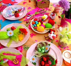 Flowers And Friends - cream linen some ideas about how to set your easter table