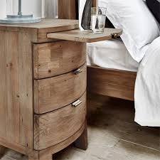 Bedside Tables Solid Wooden Bedside Table Reclaimed Bedside Table Modish Living