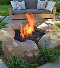 Fire Pit With Water Feature - how to be creative with stone fire pit designs backyard diy