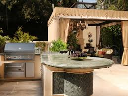outside kitchen design ideas cheap outdoor kitchen ideas hgtv