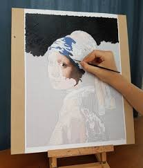 vermeer girl with pearl earring painting girl with a pearl earring painting kit from painted by you