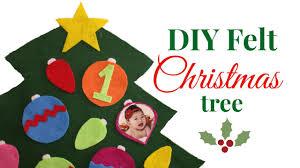 easy diy felt christmas tree for toddlers youtube