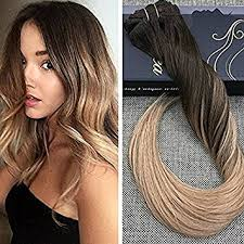 balayage hair extensions ugeat brown with caramel balayage remy clip