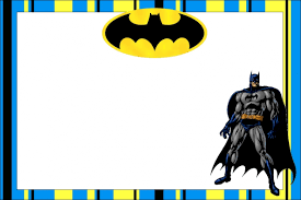 printable batman birthday invitations ideas with alluring layout