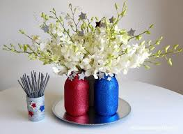 Mason Jar Flower Arrangement How To Make Your Fourth Of July Sparkle With Mason Jars And