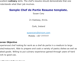 cook resume objective head chef resume head chef resume templates