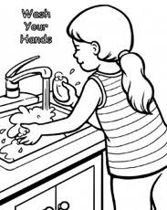 Hand Washing Coloring Sheets - hand washing for kids coloring page coloring home