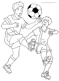 soccer color page coloring pages for kids sports coloring