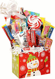 candy gift basket snowflake snowman christmas retro candy gift basket with whirly pop