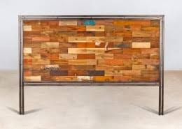 bureau bois recyclé bureau 120cm en bois recyclés de bateaux 2 tiroirs métal industryal
