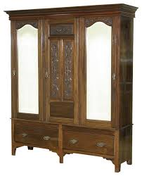 consigned antique walnut victorian sectional armoire wardrobe