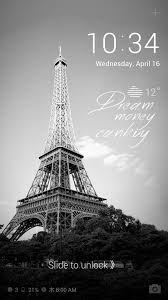 line deco paris in black and white decorate your lock screen with