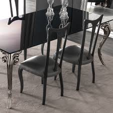 Black Lacquer Dining Room Chairs Large Black Glass Dining Table Set Juliettes Interiors Chelsea