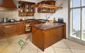 china american oak solid wood kitchen cabinet with bar counter zs