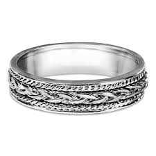 braided wedding band twobirch embellised celtic infinity braided wedding band free