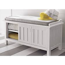white bench with storage storage bench cushion treenovation White Bench With Storage